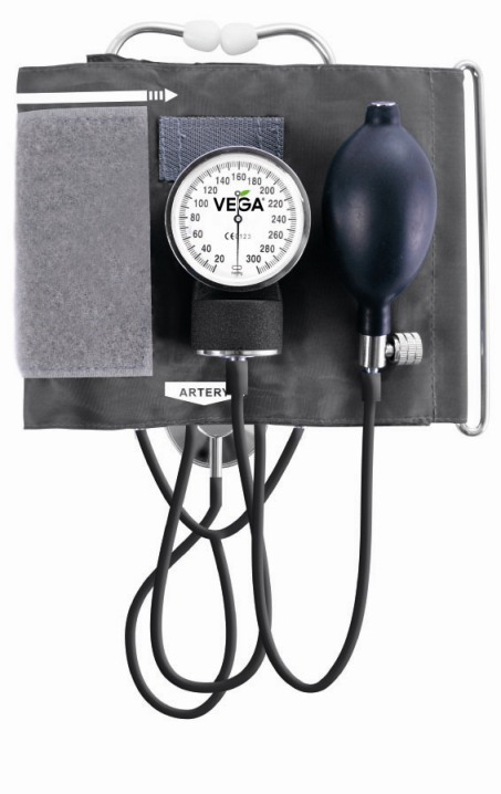 Aneroid sphygmomanometer with integral stethoscope VМ-210